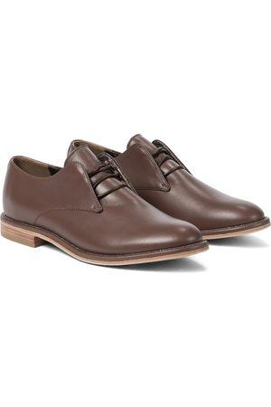 Brunello Cucinelli Dame Pensko - Embellished leather Derby shoes