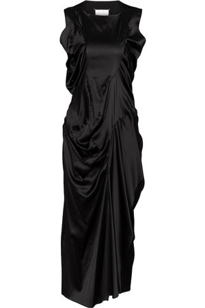 Maison Margiela Dame Midikjoler - Stretch-silk satin midi dress