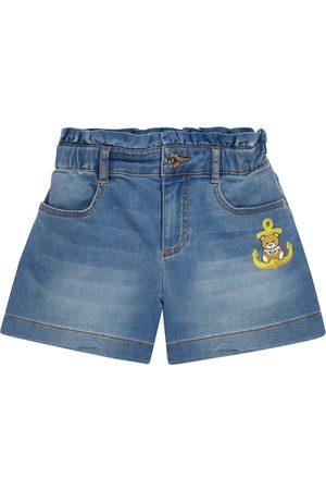 Moschino Kids Jente Shorts - Stretch-denim shorts