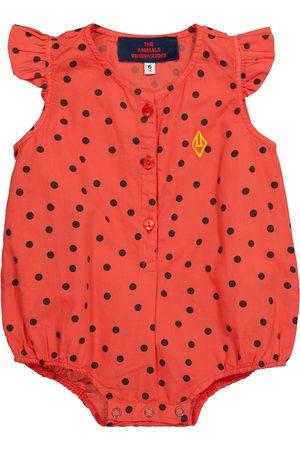 The Animals Observatory Baby Butterfly polka-dot cotton bodysuit