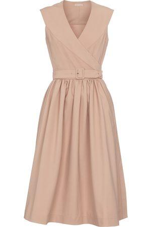 Alaïa Dame Midikjoler - Belted cotton midi dress