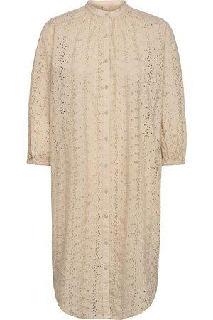Beck Söndergaard Dame Sommerkjoler - Anglaise Kaylin Tunic Dresses Shirt Dresses Beige