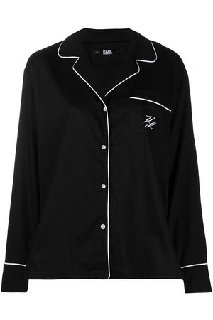 Karl Lagerfeld Logo embroidered pajama top