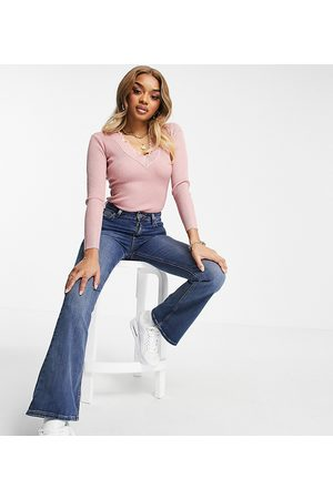 Missguided Dame Body - Knitted bodysuit with long sleeve in pink
