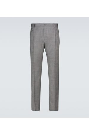 Dolce & Gabbana Herre Chinos - Double-pleated wool pants