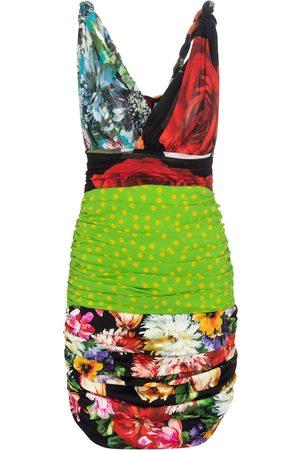 Dolce & Gabbana Dame Mønstrede kjoler - Printed stretch-silk minidress