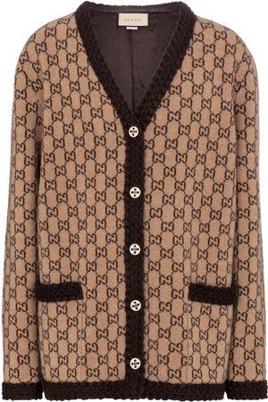 Gucci Dame Cardigans - GG jacquard wool cardigan