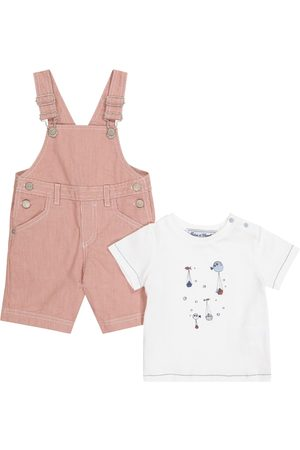 Tartine Et Chocolat Baby cotton overalls and T-shirt set