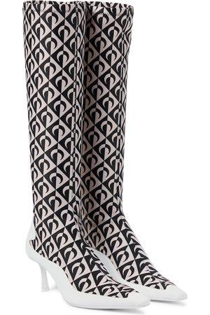 Jimmy Choo Dame Høye støvletter - Exclusive to Mytheresa – x Marine Serre printed knee-high boots