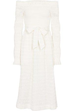 Rebecca Vallance Dame Midikjoler - Jame off-shoulder midi dress
