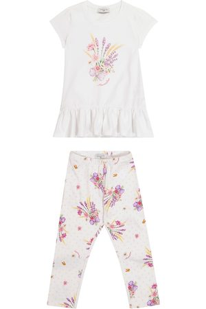 MONNALISA Exclusive to Mytheresa – Printed stretch-cotton T-shirt and leggings set