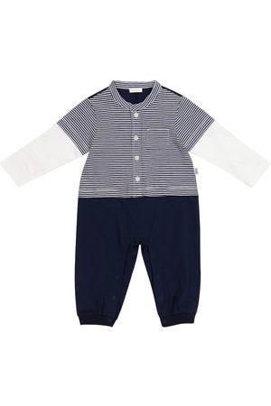 Il gufo Baby striped cotton jersey onesie