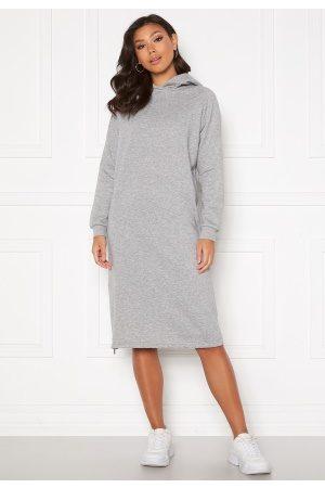 Noisy May Helene L/S Sweat Dress Light Grey Melange XS