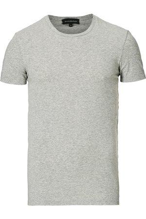 Ermenegildo Zegna Herre Kortermede - Cotton Stretch Crew Neck T-Shirt Grey Heather