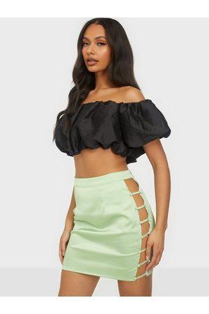 Missguided Dame Miniskjørt - Button Down Side Mini Skirt Sage