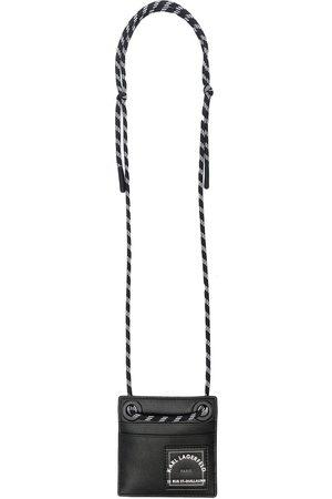Karl Lagerfeld Logo-print neck-strap wallet