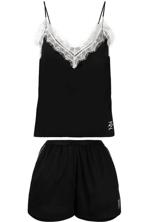 Karl Lagerfeld Lace-trim pajama set