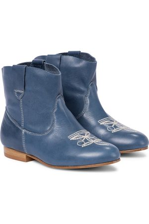 BONPOINT Texas embroidered leather boots