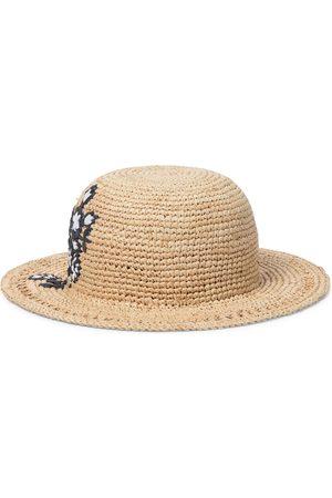 Tartine Et Chocolat Embroidered raffia hat