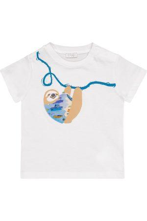 Il gufo Baby appliquéd cotton T-shirt