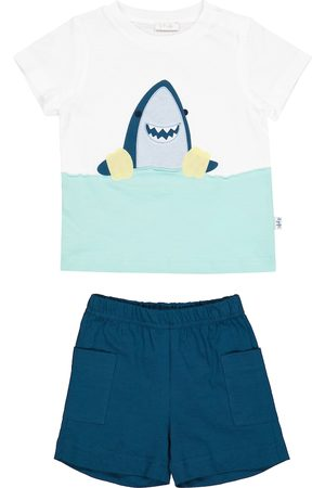 Il gufo Kortermede - Baby cotton jersey T-shirt and shorts set