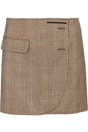 Vetements Checked wool miniskirt