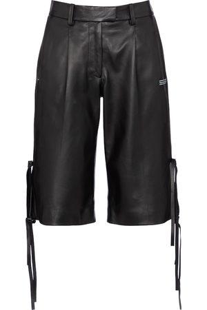 OFF-WHITE Leather Bermuda shorts