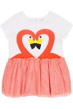 Stella McCartney Baby flamingo jersey and tulle dress