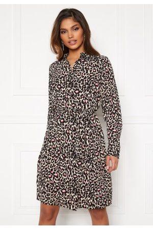 Vero Moda Saga Collar Shirt Dress Oatmeal L