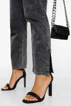 Boohoo Dame Flip flops - Padded Double Strap 2 Part Sandal