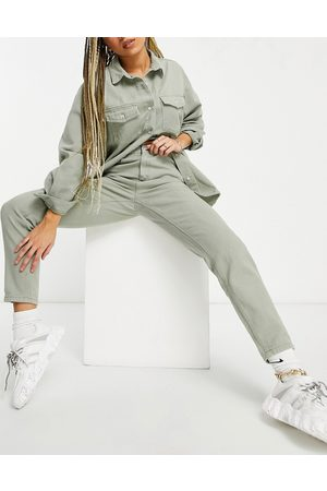 Missguided Dame Mom - Co-ord riot mom jean in khaki-Green