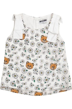 Moschino Floral tulle tank top
