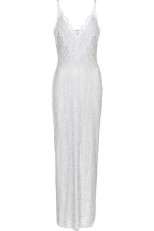 Christopher Kane Dame Midikjoler - Exclusive to Mytheresa – Lace-trimmed crystal mesh bridal gown