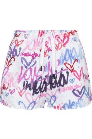 Isabel Marant Mifikia printed cotton-blend jersey shorts