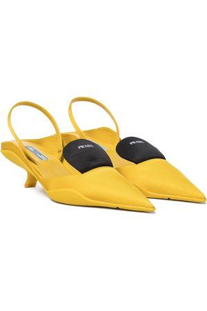 Prada Nylon slingback pumps