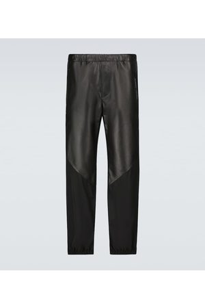 Givenchy Leather and nylon trackpants