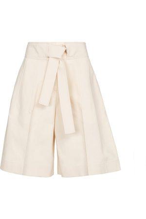 Jil Sander Dame Bermudashorts - High-rise cotton Bermuda shorts