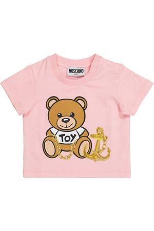 Moschino Kortermede - Baby stretch-cotton T-shirt