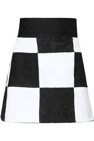 Dolce & Gabbana Brocade Jacquard Patchwork Mini Skirt