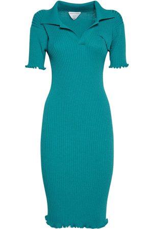 Bottega Veneta Dame Strikkede kjoler - Wool Rib Knit Midi Dress