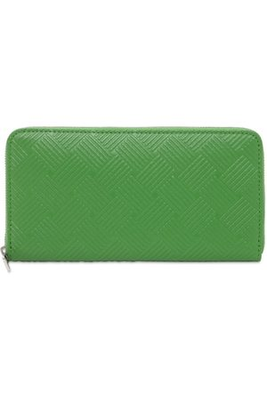 Bottega Veneta Debossed Intreccio Leather Zip Wallet
