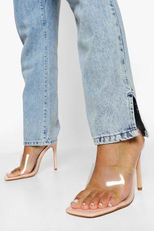 Boohoo Dame Flip flops - Clear Square Toe Mule