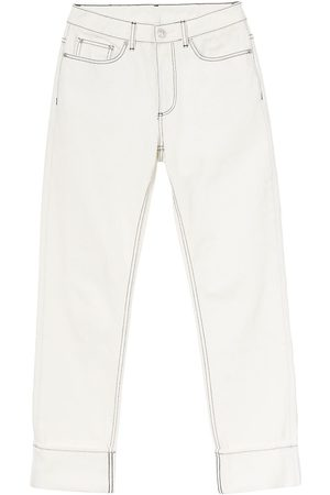 Burberry Straight-fit topstitched washed jeans