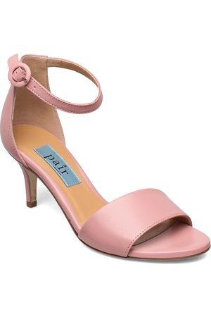 A Pair Simple Heelcap Sandal Sandal Med Hæl