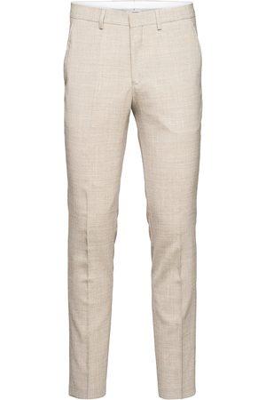 Selected Slhslim-Oasis Light Sand Trs B Noos Dressbukser Formelle Bukser Hvit