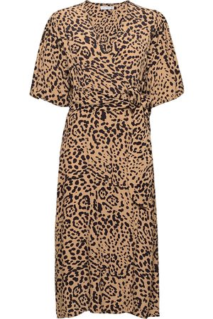 FAITHFULL THE BRAND Elfrida Wrap Dress Knelang Kjole Creme