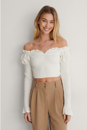 Lisa-Marie Schiffner x NA-KD Dame Off shoulder - Off Shoulder-Topp