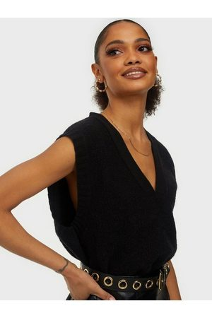 Gina Tricot Abigail Knitted Vest Black