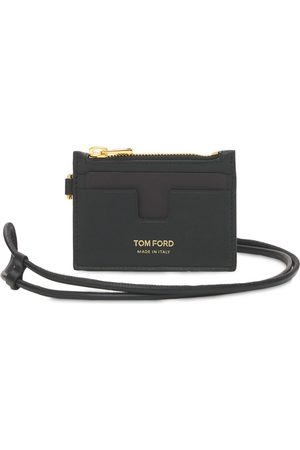 Tom Ford Herre Lommebøker - Logo Leather Zip Cardholder W/ Strap