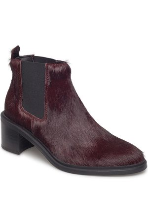 Royal RepubliQ Dame Skoletter - Town Chelsea Pony Shoes Boots Ankle Boots Ankle Boots With Heel Lilla
